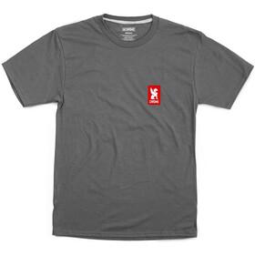 Chrome Vertical Red Logo Tee, gris/rojo